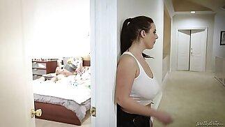 Huge titted maid fucks the virgin guy Angela White, Tyler Nixon