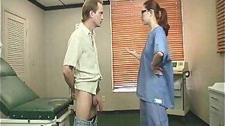 Redhead Nurse Jerking Treatment