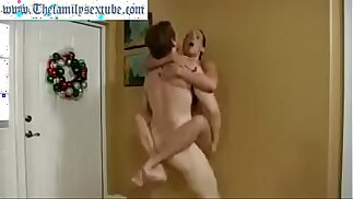 Wenona in hot milf mom challenges son to wrestle and gets fucked hard