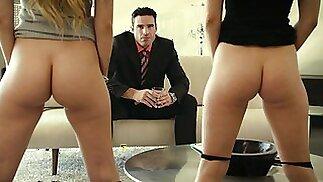 Best Friends get Punished by Rich Boss
