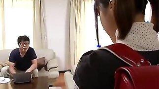 أبي يجعل ابنة حامل اليابانية