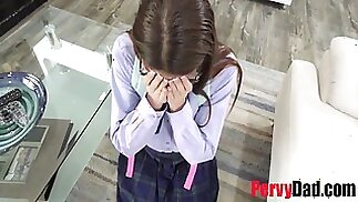Dad Caught And Punished Teen Daughter- Catalina Ossa