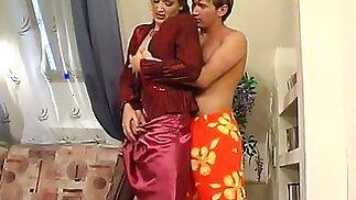 Russian Mom seduces son -Helena