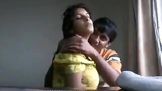 Desi boyfriend playing with juicy boobs of his girlfriend