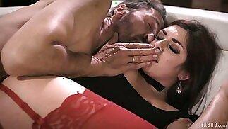 Dude fucks anal hole of seductive porn model with plump ass Keira Croft