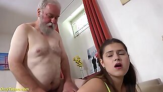 Curvy Teen Fucked By A Old Man