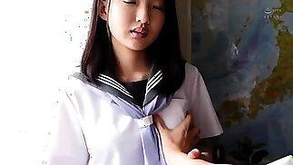 Sweet Asian schoolgirl desperately needing a deep pounding