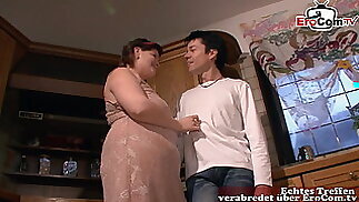 CHUBBY GERMAN HOUSEWIFE MOM FROM NEXT DOOR IN KITCHEN