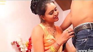 Hot sexy beautiful Indian fucked hard at work