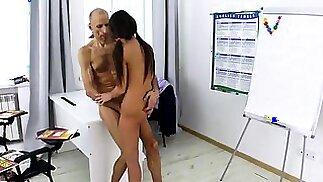 Innocent schoolgirl was seduced and shagged by her elder sch